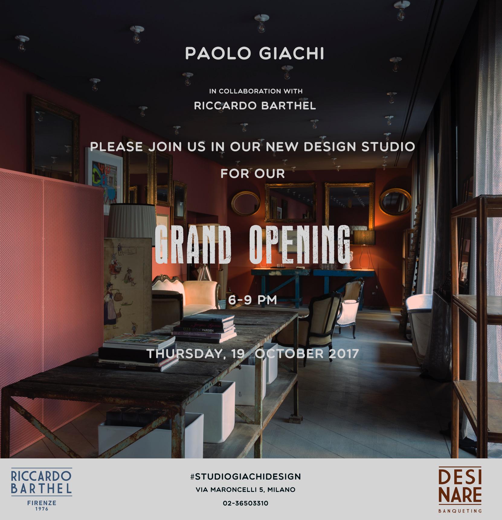 Studi Design Interni Milano.Inaugura Studio Giachi Design Via Maroncelli 5 19 Ottobre 2017